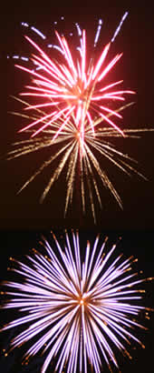 wedding fireworks and displays